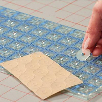 15 ADHESIVE Silicone Gel Ruler Grips Non-slip for Sewing Craft Multi-purpose