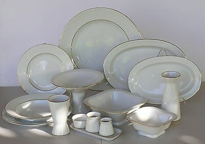 Dinner set for 6 people/33 pcs GOLDEN RIM, Lomonosov Imperial Porcelain, Russia