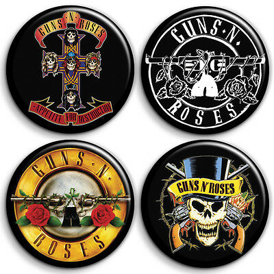Guns N Roses 4 x Button Badge / Pinback - 25mm 1 inch - Parody Style