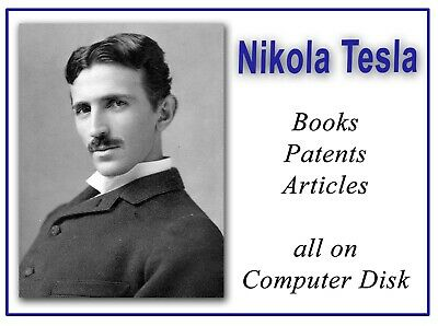 Nikola Tesla Vintage Old Books Patents Coil My Inventions Autobiography DVD 279