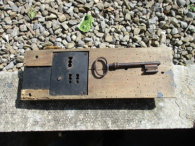 Antique French lock and key from a heavy door working condition by Mauduit