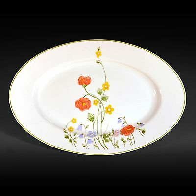 Karolina Favolina English Flowers China Oval Serving Platter - Made in Poland