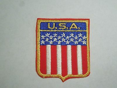 Vintage USA United States Flag Travel Souvenir Embroidered Iron On Patch