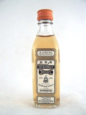 Miniature circa 1965 Old Bushmills Irish Whiskey Isle of Wine