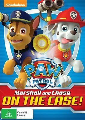 Paw Patrol: Marshall And Chase On The Case DVD Region 4 New Sealed