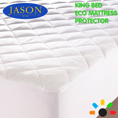 New Jason King Bed Eco Mattress Protector Safety Cover Topper Machine Washable