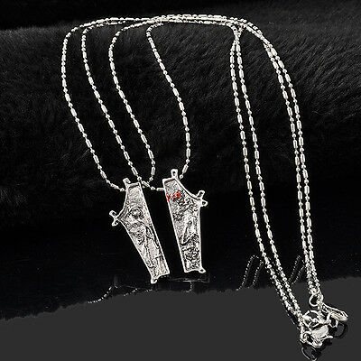 Vintage The Nightmare before Christmas Necklace Jack and Sally Necklace 2 Pieces
