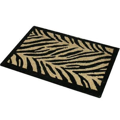 LARGE 70 x 40 cm ZEBRA ANIMAL PRINT ENTRANCE IN/OUT DOOR MAT 100% COIR DOORMAT