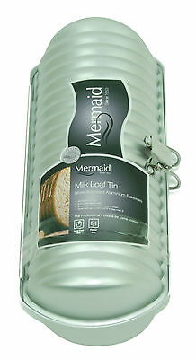 Mermaid M8719 Milk Loaf Tin Ridged Cylinder Hard Anodised Aluminium Cake Mould
