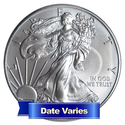 $1 American Silver Eagle 1 oz Random Year Brilliant Uncirculated