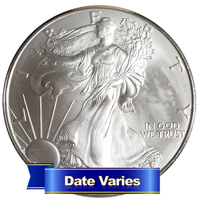 $1 American Silver Eagle 1 oz Random Year Scruffy