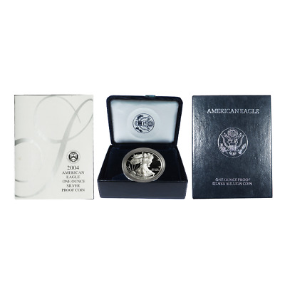 2004-W Proof $1 American Silver Eagle Box OGP & COA