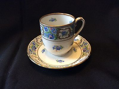 """Schumann """"Forget Me Not"""" Small Cup & Saucer Bavaria Germany"""