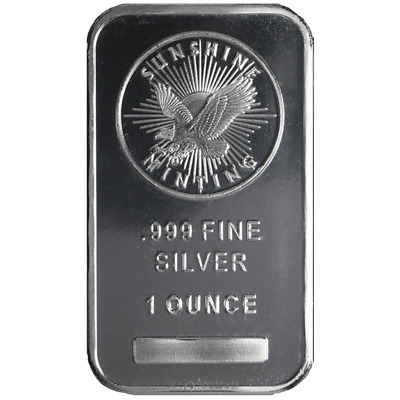 1 Troy oz Sunshine Mint .999 Fine Silver Bar Mint Mark SI Sealed