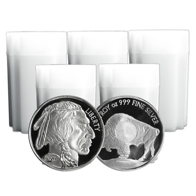 Lot of 100 - 1 Troy oz Sunshine Mint Buffalo .999 Silver Round Mint Mark SI