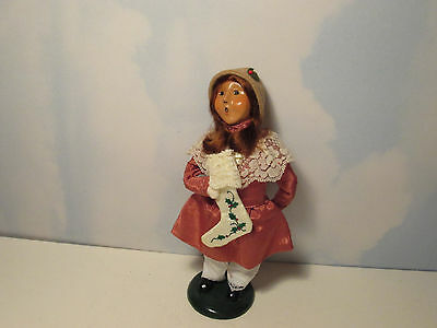 Byers Choice 2001 Victorian Girl with Stocking