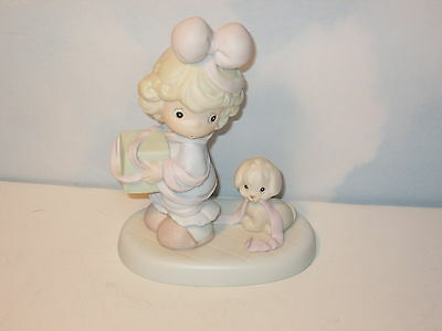 Precious Moments Tied Up for the Holidays Figurine MIB 527580
