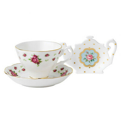 Royal Albert New Country Rose White Tea Cup / Saucer/ Teatip Rrp $99.95
