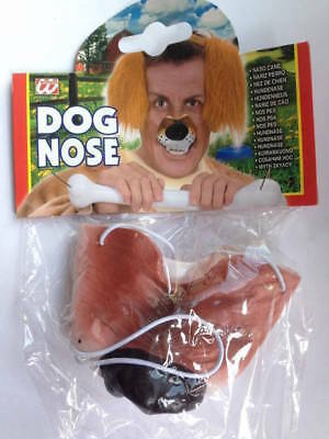 ** Dog Animal Nose Adult Fancy Dress New ** Ladies Mens Childrens Farm