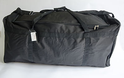 """New Ariana Strong Black Extra Large Lightweight Holdall/Duffel Bag 36"""""""