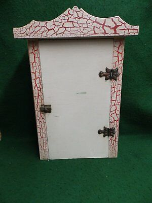 Vintage Medicine Cabinet Decorative Shabby Country Folk Art Cottage Chic 4662-15