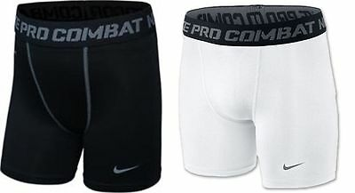 Brand New Boys Nike Dri Fit Pro Black Or White Compression Shorts Rrp £18.99
