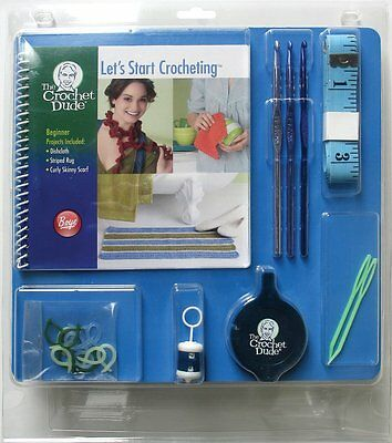 The Crochet Dude Starter Crochet Kit-21Pc-Great For Knitting Crochet - New!!