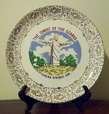 Eureka Springs Arkansas Plate Vintage Christ of the Ozarks