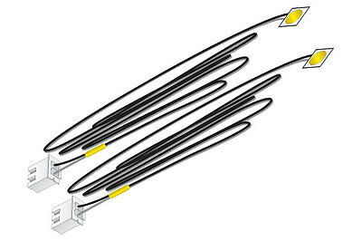 Just Plug JP5742 LED Stick-On Lights Yellow Two Pack Woodland Scenics New!