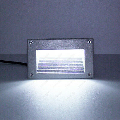 7W LED Wall Decking Light Outdoor Corner Lamp E27 Bulb Wiring Box Stairway Gate