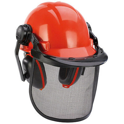 Einhell Forestry Safety Helmet with Ear Defenders and Face Mask Visor