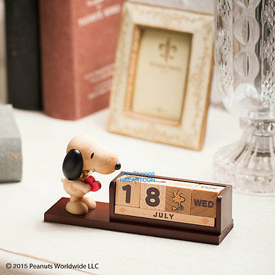 New Japan Snoopy Wooden Dices Perpetual Calendar Ornament 389614