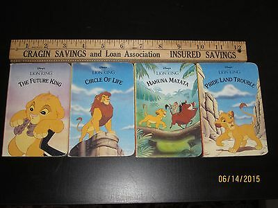 1994 Disney Mouse Works The Lion King Children's Little Library Set Of 4 Books