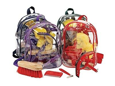 Cottage Craft Horse Grooming Set 4 Piece Equestrian Cleaning Kit Horse Brushes A