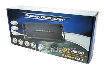 Power Acoustik RZ1-3500D 3500 Watt Monoblock Class D Car Subwoofer Amplifier New