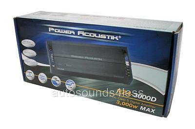 Power Acoustik RZ4-3000D 3000 Watt 4-Channel Class D Car Audio Amplifier New