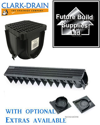 Heavy Duty A15 PVC Channel Drainage Grating 1 metre 1m Length Clark Drain