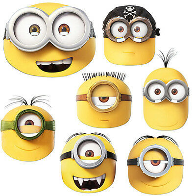 Official Minions Movie Face Masks Kids Fun Party Fancy Dress Despicable Me New