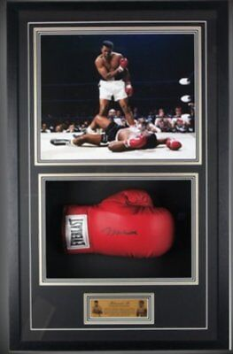 Hand Signed Muhammad Ali Large Framed Everlast Boxing Glove - Online Authentics