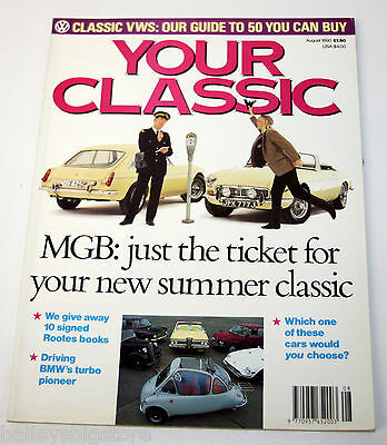 Your Classic Car Magazine Aug 1990  - MGB, classic VW's
