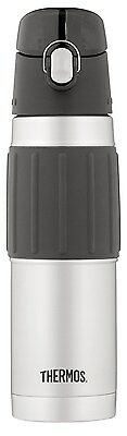 Thermos Vacuum Insulated 18-Ounce Stainless-Steel Hydration Bottle, Black, 1