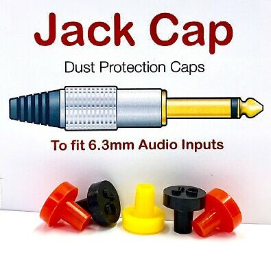 JACK CAP 6.3mm 1/4in XLR Dust Plug Protection Cover Audio Keyboard Mixer JACKCAP