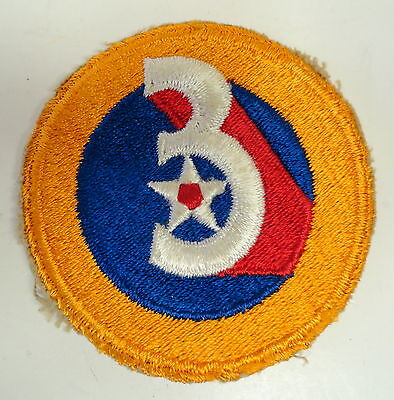 Wwii 3Rd Us Army Air Forces Shoulder Patch-Original