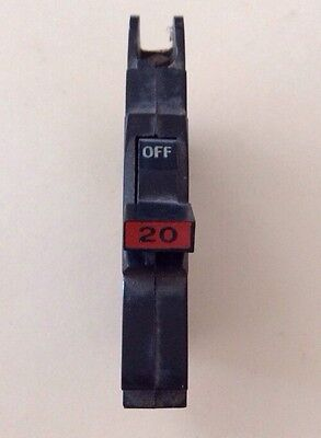 FPE 20 Amp 1-Pole Stab-Lok Type ''NC'' or (Thin) Federal Pacific Breakers #1973