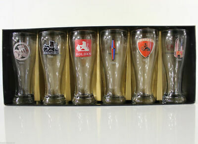 Holden 50th Anniversary Golden Years 1948 - 1998 Beer Glasses Set Collection