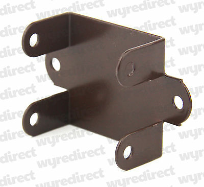 Fence Panel Clips / Trellis Clip Brackets 47mm Easy Fit Brown Coated