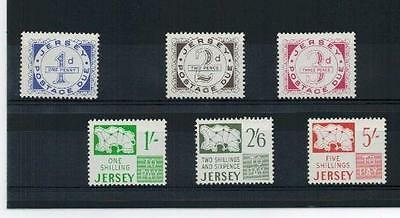 Jersey 1969 Pre Decimal Postage Due Full Set Sg D1 - D6 Unmounted Mint