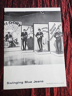 The Swinging Blue Jeans - Rock /pop Music - 1 Page  Picture- Clipping/cutting