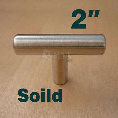 Solid Stainless Steel T bar Kitchen Cabinet Handles Drawer Pull ...