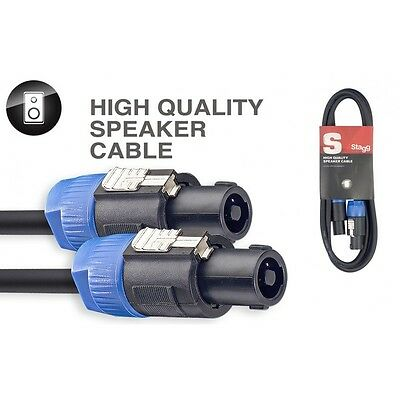 STAGG SSP10SS15 Cable Speakon To Speakon Speaker Lead 10 Metre 10M Durable